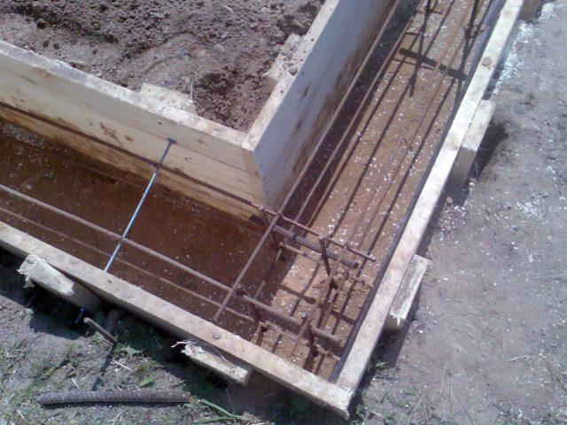 как армировать фундамент под баню