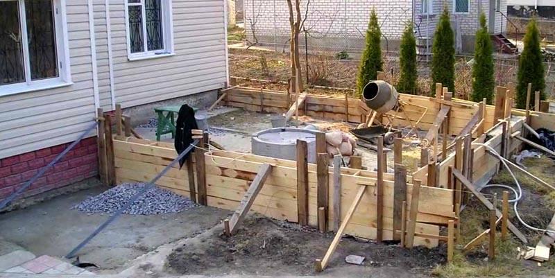 Фундамент для пристройки к дому своими руками
