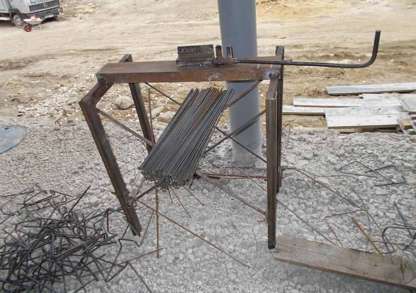 Самодельный станок для гибки арматуры