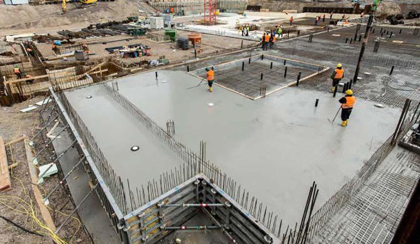 Объем бетона