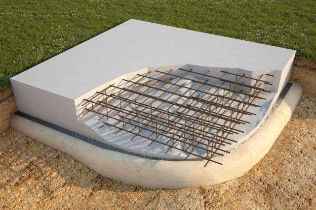 Также монолитный фундамент оправдан в случаях, когда здание не имеет подвальных этажей или строится из тяжелых материалов, оказывающий повышенное давление на почву