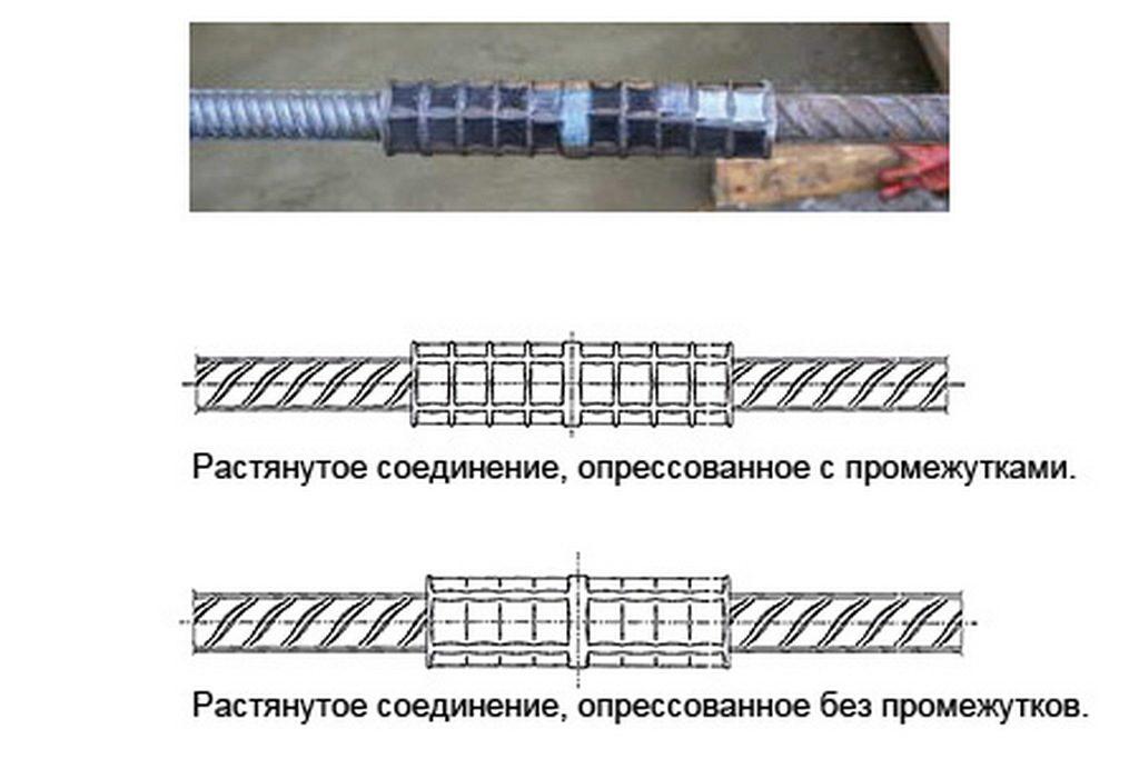 Муфты обжимные для соединения арматуры