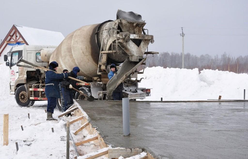 Особенности заливки бетона при морозе
