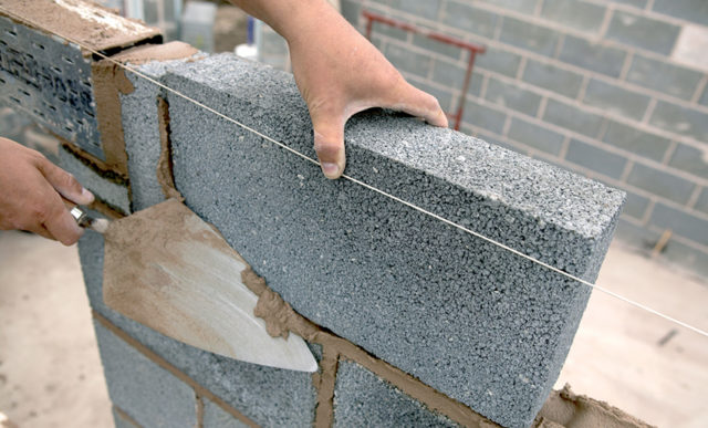 Огнестойкость керамзитобетон чем удалить цементный раствор с плитки