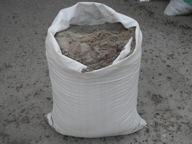 Объём мешка цемента