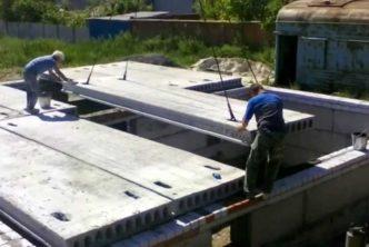 Как укладывать плиты перекрытия на фундамент?