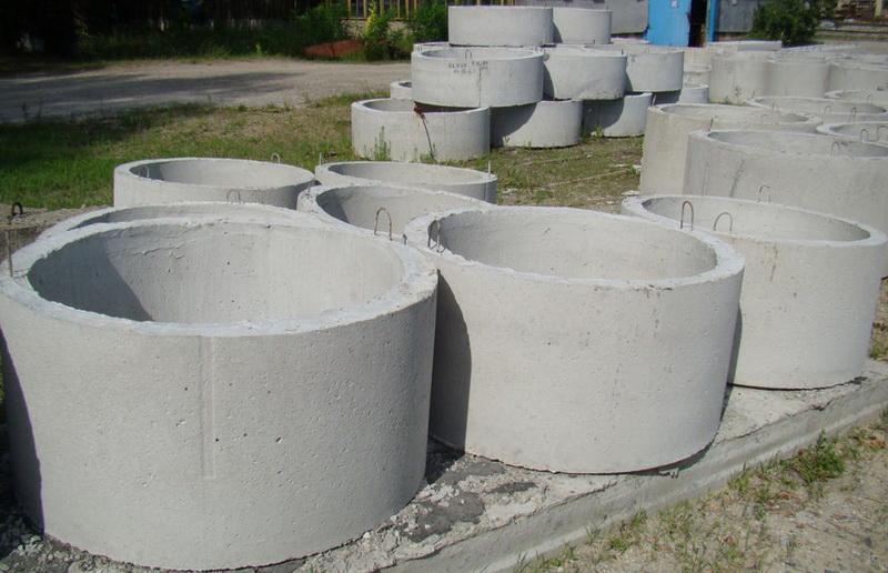 Размеры бетонных канализационных колец (объем, вес, диаметр)