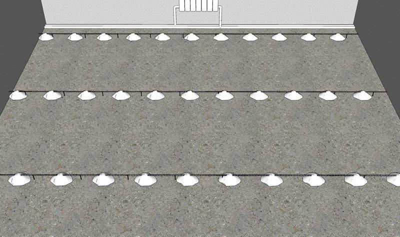 Как правильно установить маяки для стяжки пола